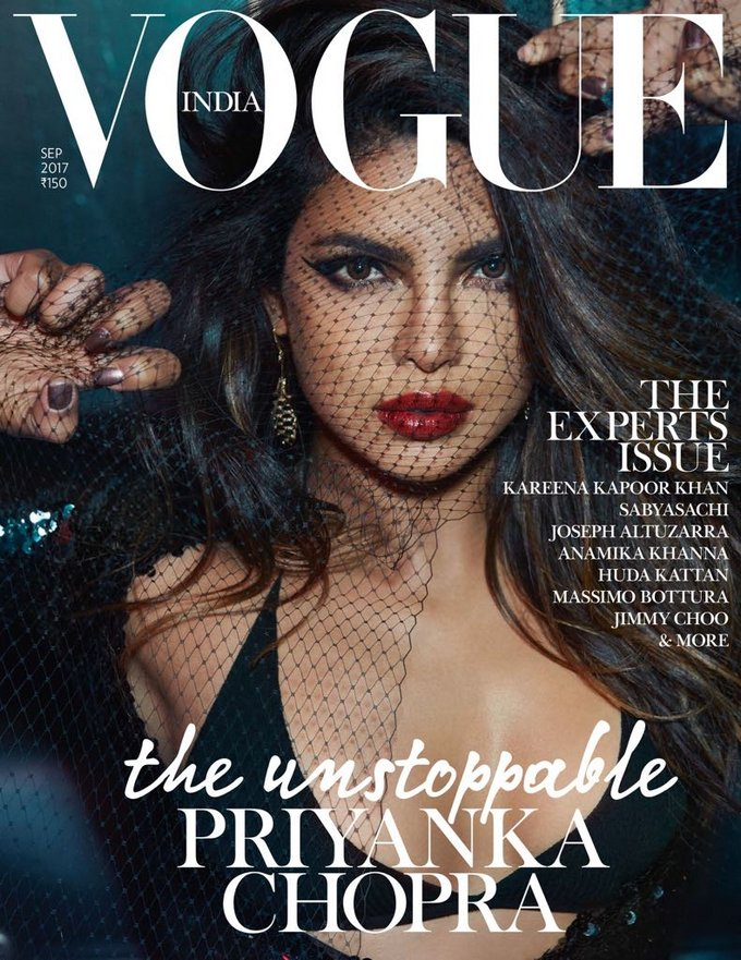 Priyanka Chopra Spicy Poses for Vogue Magazine India September 2017