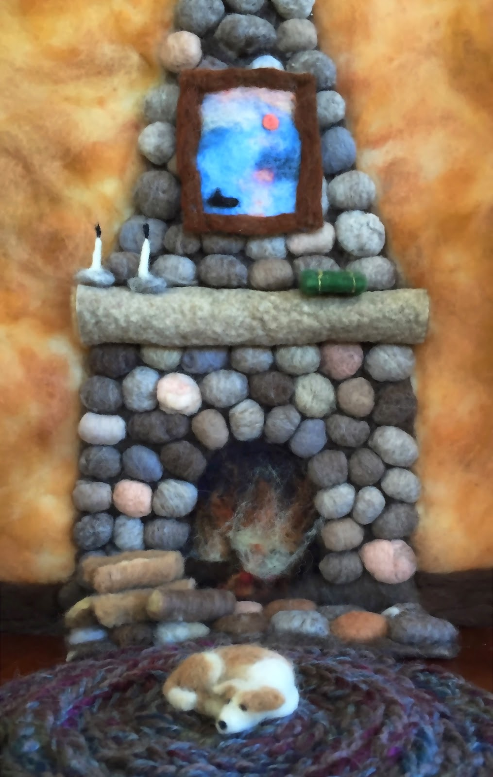 claudia marie felt how to create a wool fireplace for fireplaces for wall mounted fires fireplace pictures for wall