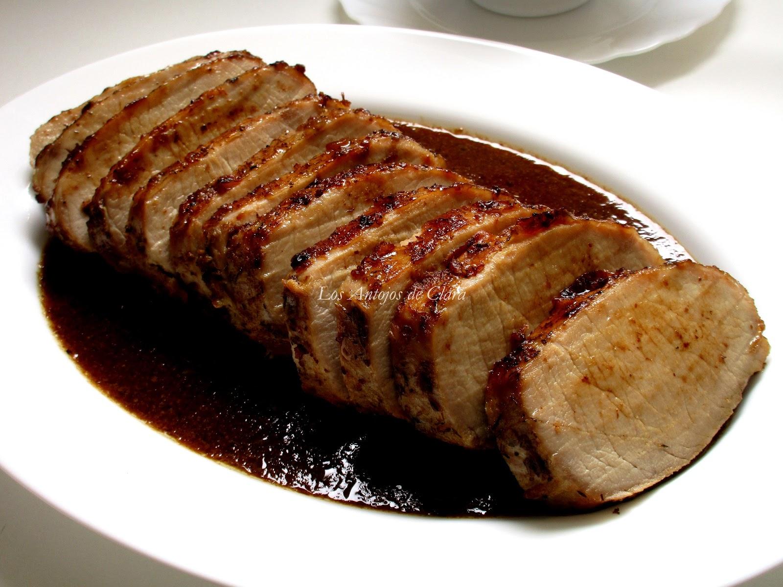 Los antojos de clara lomo de cerdo al horno en salsa de - Carne con ciruelas pasas ...