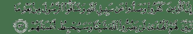 Surat Muhammad ayat 32