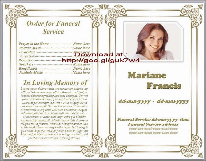 Doc700538 Memorial Program Templates Free Free Funeral – Free Funeral Program Templates for Word