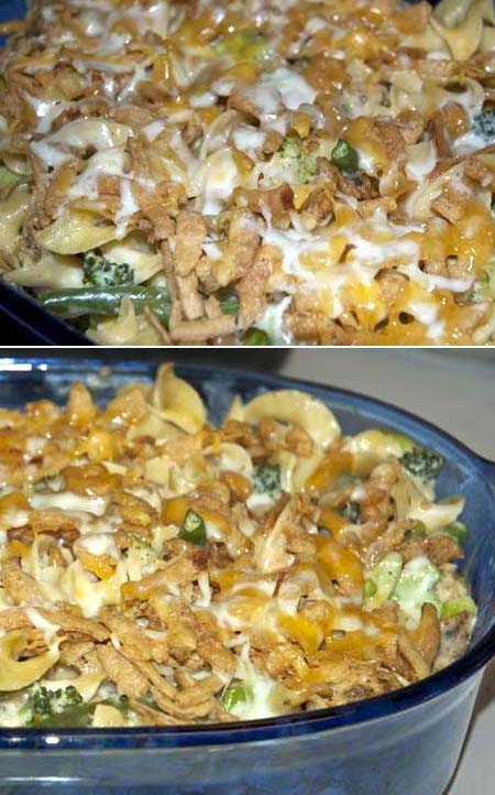 Egg Noodle and Chicken Casserole