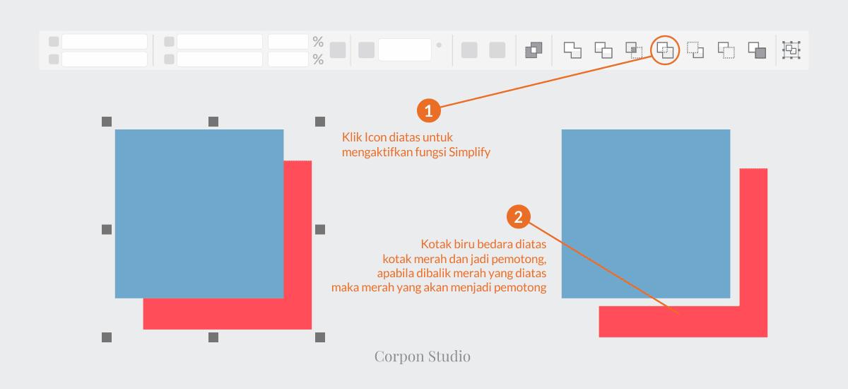 Mengenail Fungsi Tehnik Shaping Pada Coreldraw - Simplify