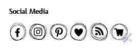 Fräuleins wunderbare Welt Social Media Buttons einbinden