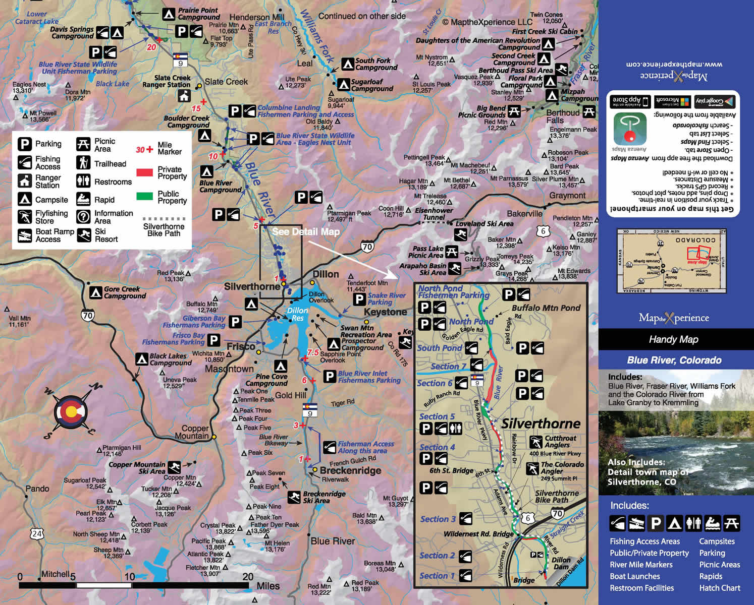 BLUE RIVER PUBLIC ACCESS MAP | FISHING MAP | COLORADO