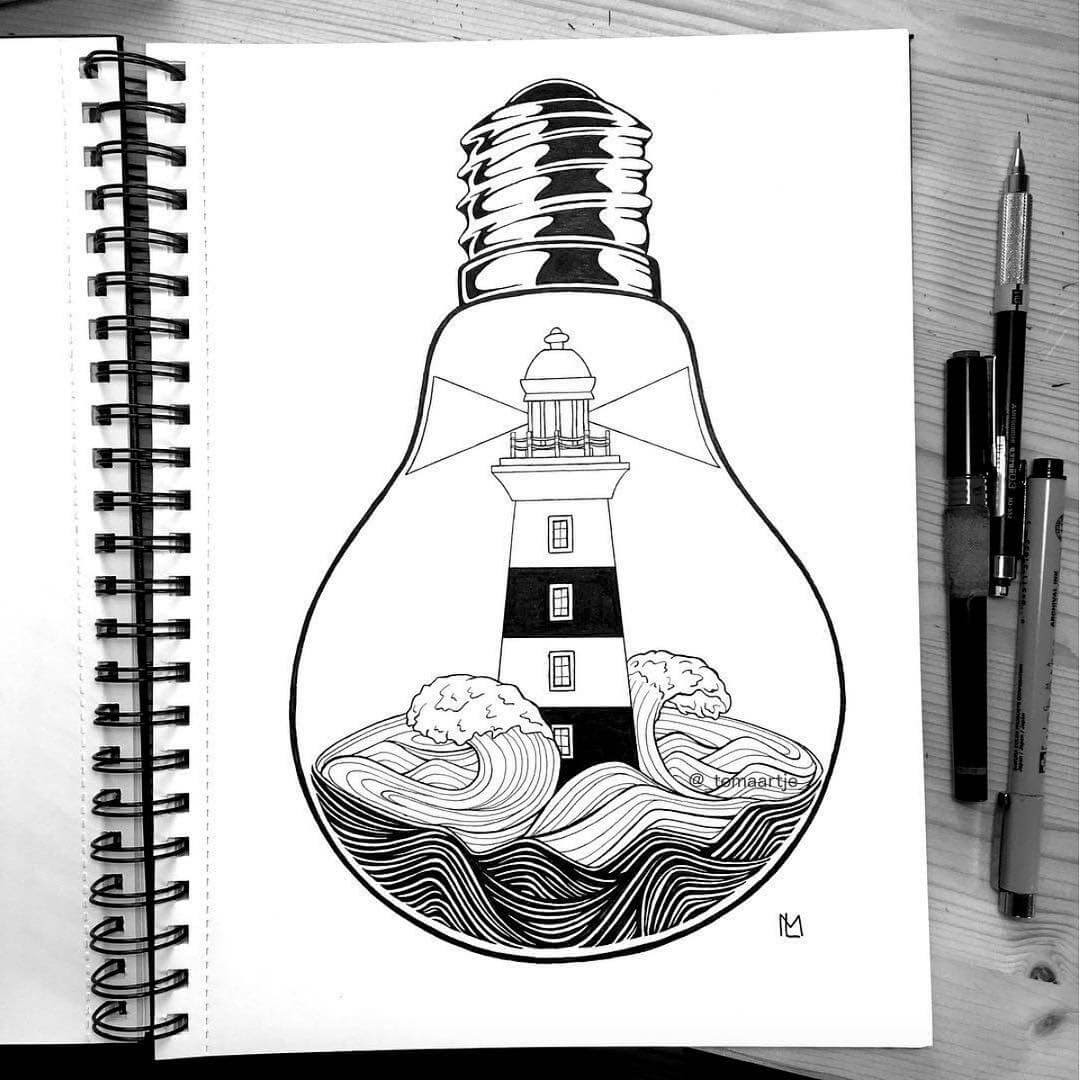 05-Lighthouse-Maartje-Ink-Drawings-Mostly-Enclosed-www-designstack-co