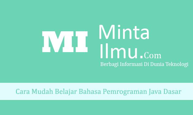Belajar Bahasa Pemrograman Java untuk Pemula dari Nol Bonus PDF