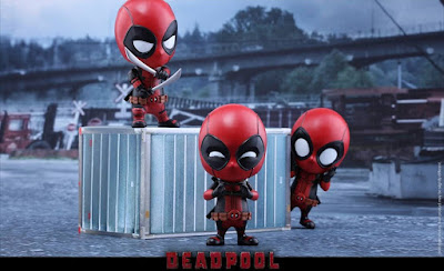Deadpool Cosbaby Vinyl Figure Bobble Head Series 3 Figure Set by Hot Toys