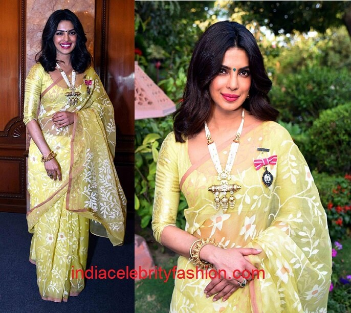 Priyanka Chopra in Madhurya Creations Sari