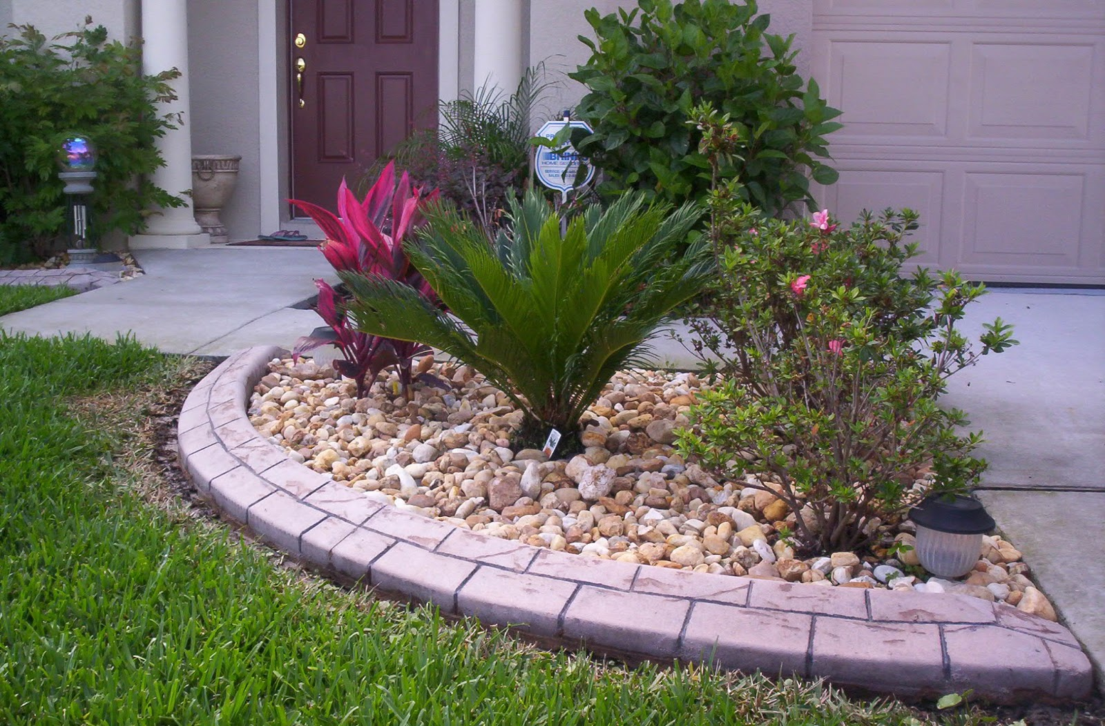 Plant Bed With Stone Edging ! Garden Bible