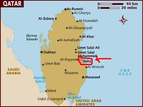 kart over qatar Timon og Pomba på tur: Fremme i Qatar kart over qatar