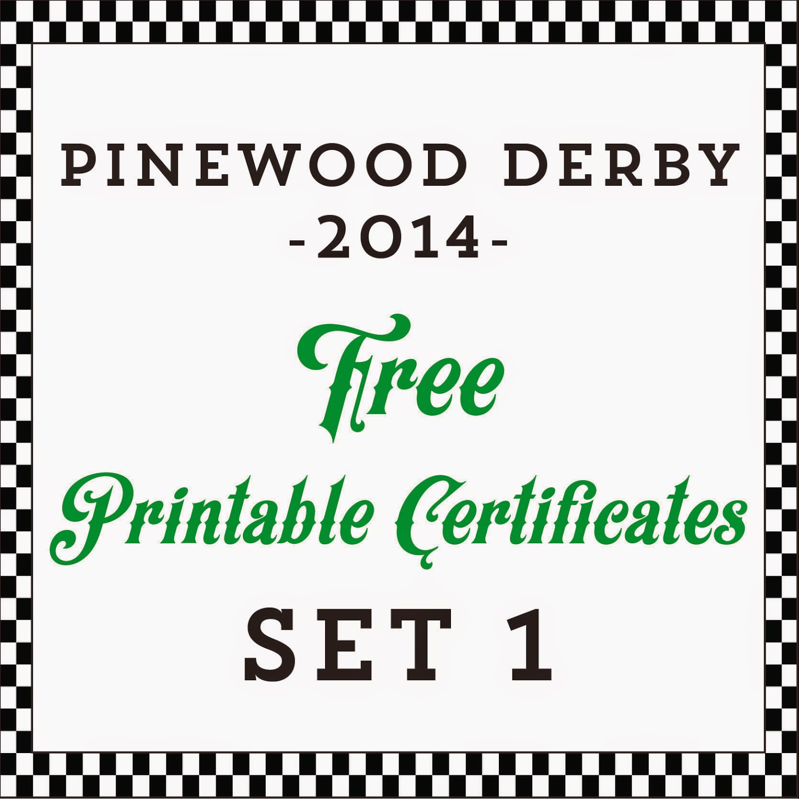 Hot Commodity Home Decor Free Printable Pinewood Derby Awards