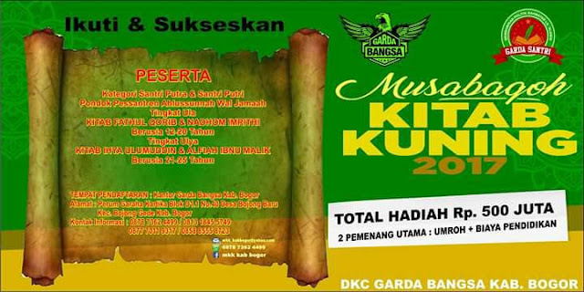 Musabaqah Kitab Kuning Untuk Santri Kabupaten Bogor