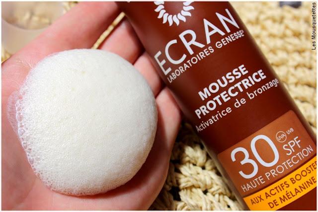 La Mousse de protection solaire et activatrice de bronzage Ecran - Blog beauté