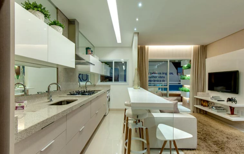 R apartamento compacto de luxo com vista for Lux home design