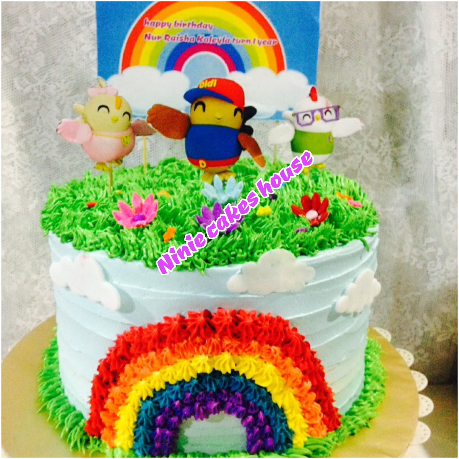 ninie cakes house: Didi & Friends Birthday Cake