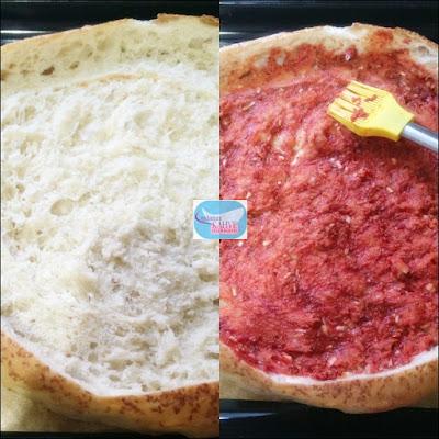 pratik pide pizza tarifi, pideden pizza yapımı, pide ile pizza yapımı