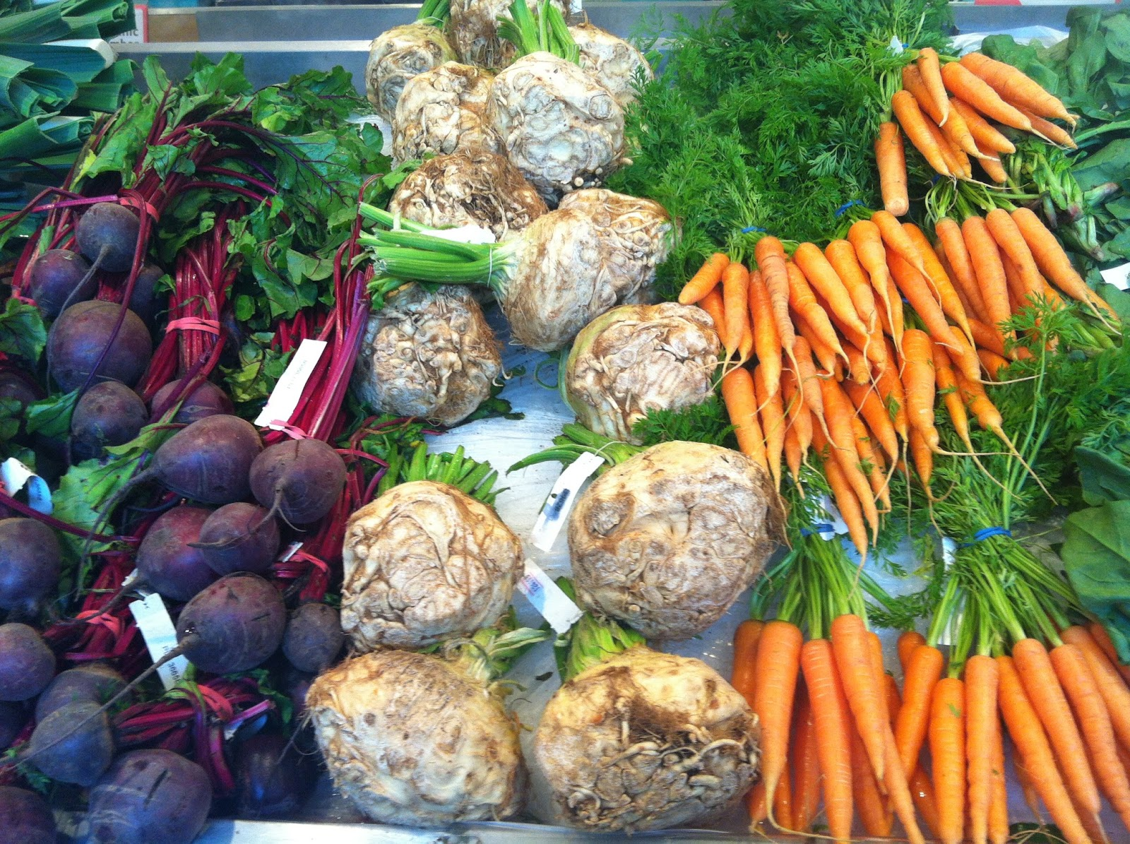 Beetroot, celeriac and carrots are legal on the SCD