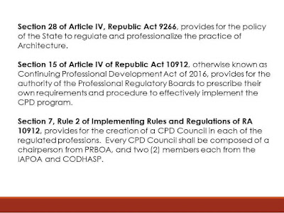 the professional regulatory board of architecture