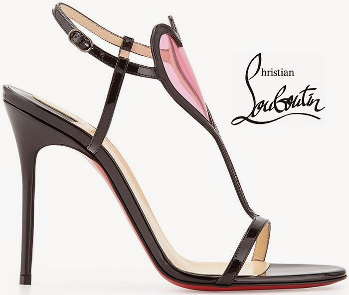 ca45774eb44 Glowy: Adaeze In Christian Louboutin Cora Pink PVC Heart and Leather ...