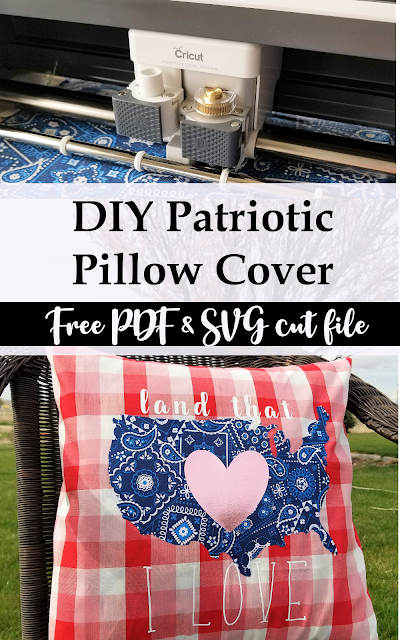 Free Patriotic Pillow Pattern with PDF and SVG file