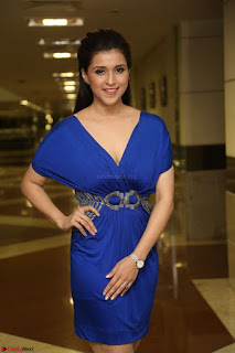 Mannara Chopra in Short Blue Dress at Rogue Movie Teaser Launch 1st March 2017 101.JPG