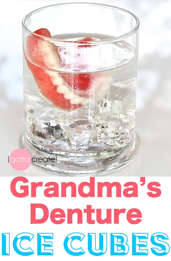 It's really ICE! Denture Ice Cube tutorial at I Gotta Create!