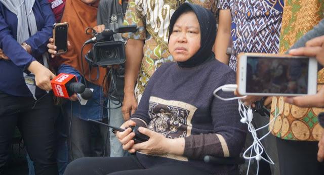 Wali Kota Surabaya Tri Rismaharini: Penanganan 'Sinkhole' Jalan Gubeng Bisa 5 Hari, tapi…