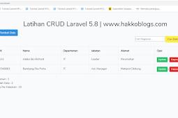 membuat CRUD di Laravel 5.8 full source code