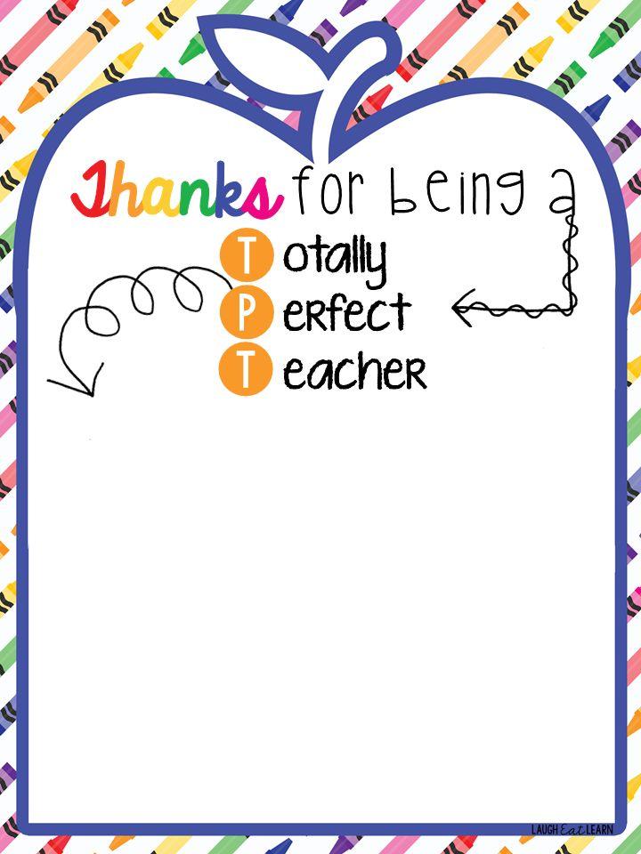Don\u0027t worry! Free teacher appreciation printable that will take you