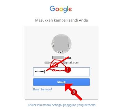 Masukkan kembali sandi-password email Anda