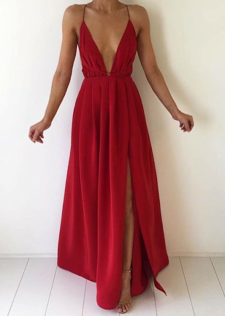 Red-prom-event-dress