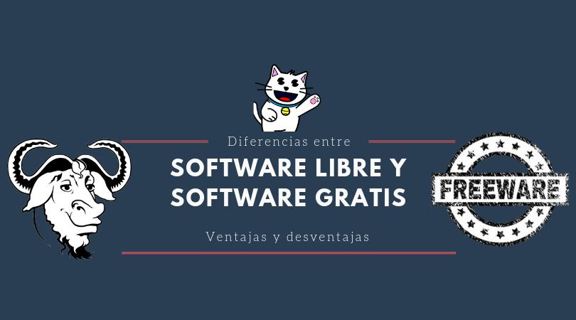 Diferencias entre Software Libre y Software Gratis