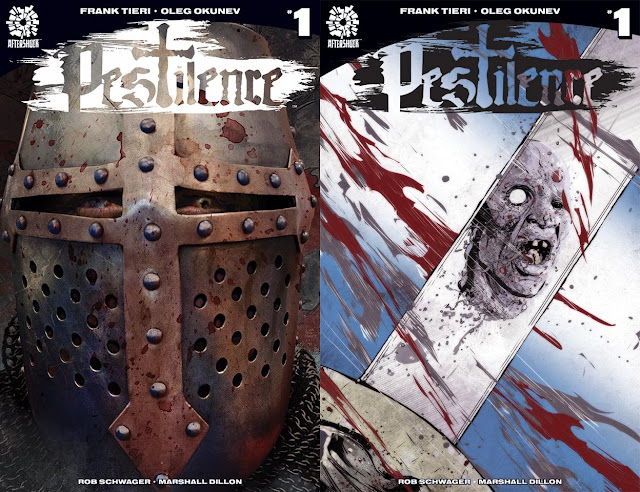 Pestilence: cover art alternative per il numero uno (a sinistra quella di Tim Bradstreet, a destra quella di Szymon Kudranski)