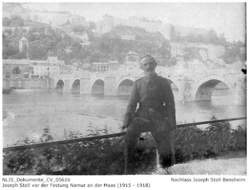 NLJS_CV_0561b Joseph Stoll vor der Festung Namur, Nachlass Joseph Stoll Bensheim, Stoll-Berberich 2016