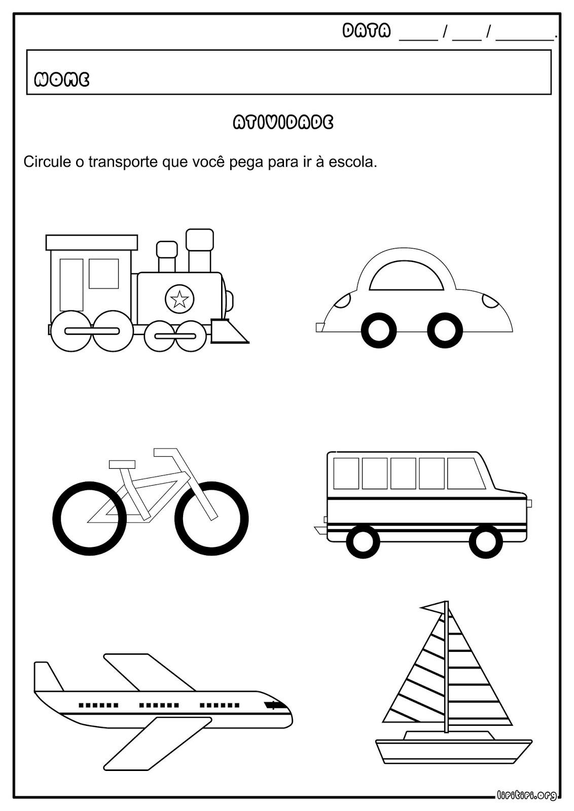 imagens de transportes terrestres para colorir