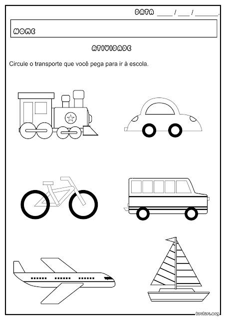 Meios de Transporte Atividade