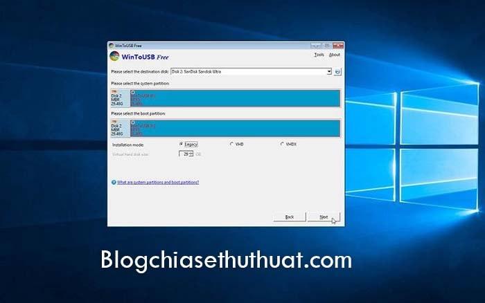 Cài và chạy Windows 10 bằng USB