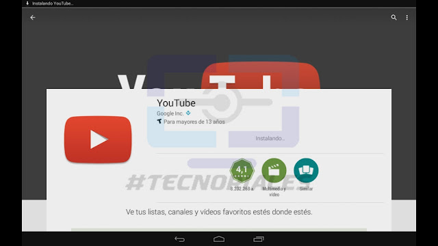 Instalando Youtube en la tablet canaima con Google Play