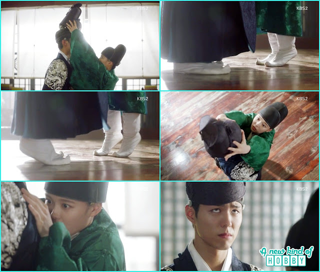 ra on tip toed to put the cap on crown prince and fell funny scene- Love in The Moonlight - Episode 4 Review