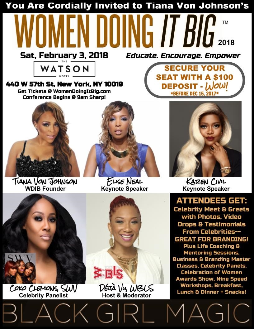 Donloes lowdown women doing it big conference in nyc in 2018 described as an incredible and encouraging experience by enspire magazine the women doing it big conference wdib returns to new york city for the sixth m4hsunfo