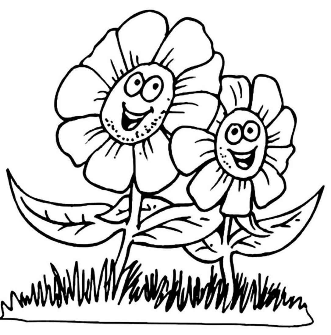 раскраски деткам раскраска цветы