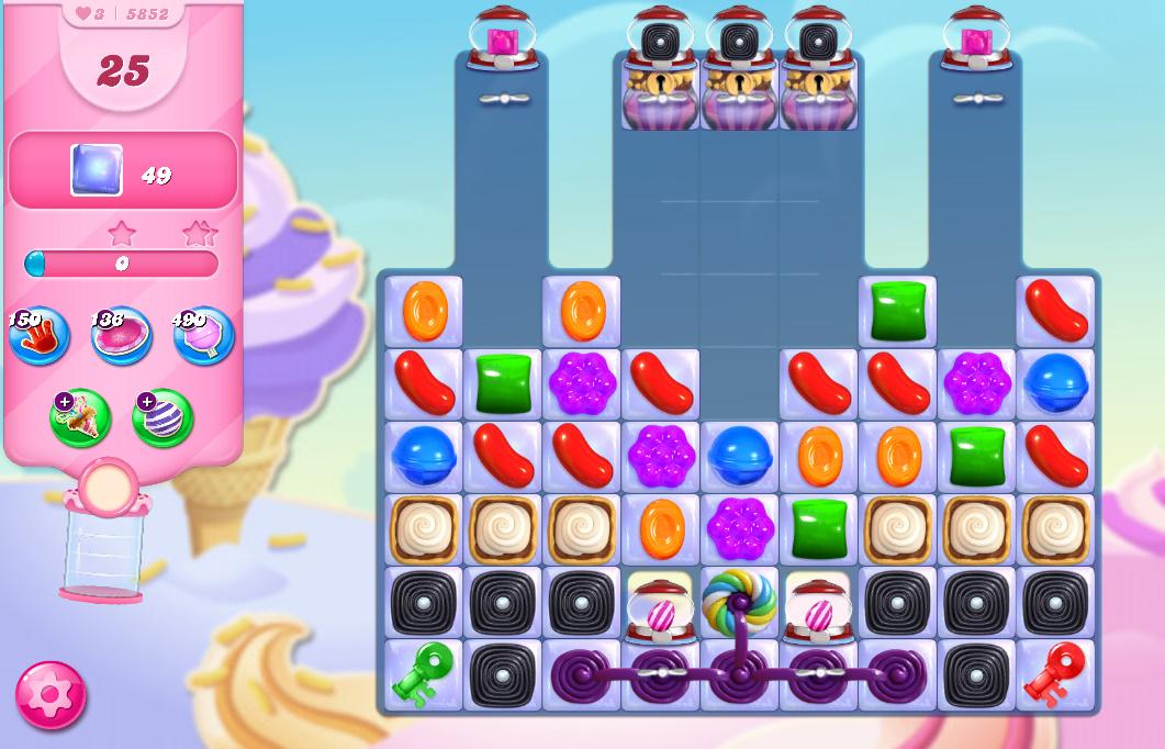 Candy Crush Saga level 5852