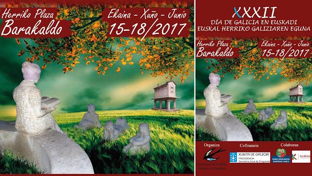Cartel del Día de Galicia en Euskadi