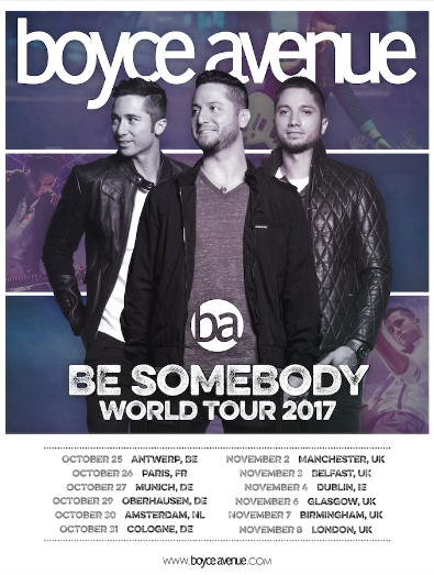 Boyce Avenue announce full UK headline tour