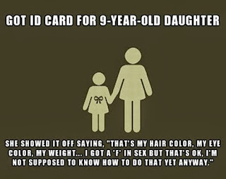 failing F for sex underage id card funny fail