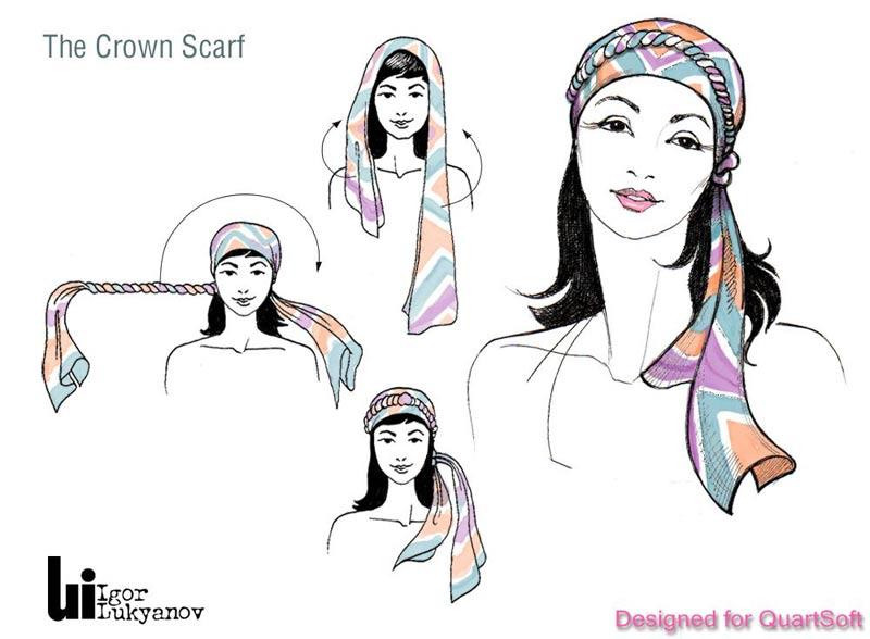 Les Chics Filles  25 façons de nouer son foulard e8a57b387fd