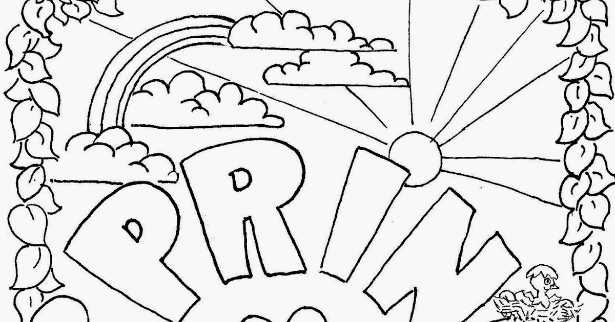 Coloring Pages For Kids By Mr Adron Spring Free Page