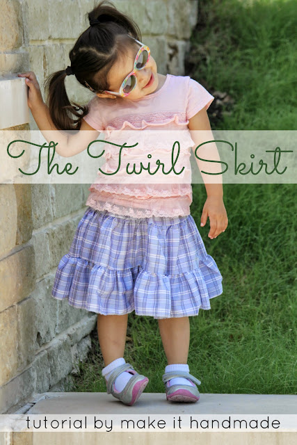 The Twirl Skirt- Tutorial by www.makeithandmade.com