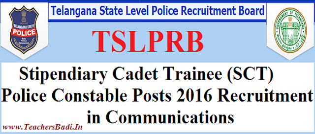 TSLPRB,PC Police Constable,Communications